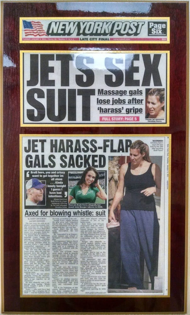 Ny Jets Brett Favre Sued For Sexual Harassment
